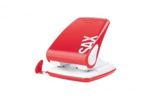 Děrovačka SAX Design 518 - 40 listů, kovová, červená