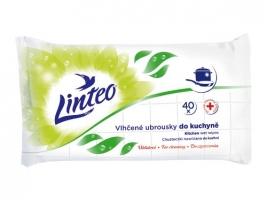 Antibakteriální vlhčené ubrousky do kuchyně Linteo - 40 ks