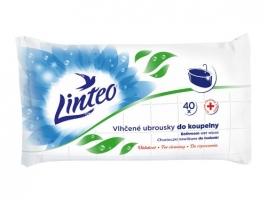 Antibakteriální vlhčené ubrousky do koupelny Linteo - 40 ks