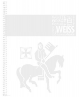 Kroužkový college blok A4 Staufen Premium - linkovaný, 80 listů, bílý - DOPRODEJ