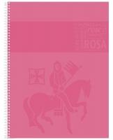 Kroužkový college blok A4 Staufen Premium - čtverečkovaný, 80 listů, růžový - DOPRODEJ