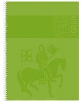 Kroužkový college blok A4 Staufen Premium - čtverečkovaný, 80 listů, zelený - DOPRODEJ