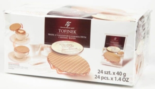 Vafle Tofinek - s karamelem, 24x40 g