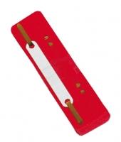 Rychlovazačové pásky Donau - plastové, červené, 25ks