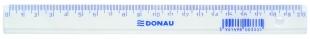 Plastové pravítko Donau - 20 cm, transparentní
