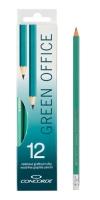 Ohebná grafitová tužka Concorde Green Office č.2 - s pryží, 12 ks