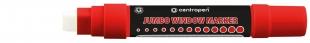 Křídový popisovač Centropen Jumbo Window 9120 - obdelníkový hrot, 2-15 mm, červený