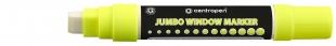 Křídový popisovač Centropen Jumbo Window 9120 - obdelníkový hrot, 2-15 mm, žlutý