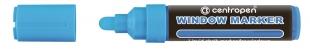 Křídový popisovač Centropen Window Marker 9121 - 3-4 mm, modrý