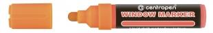 Křídový popisovač Centropen Window Marker 9121 - 3-4 mm, oranžový