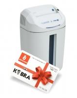Skartovací stroj Kobra +1 CC4 - kapacita 14 listů, objem 38,5 l, bílý + karta na pohonné hmoty 500 Kč ZDARMA