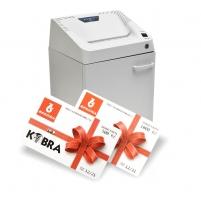 Skartovací stroj Kobra 240.1 C4 - kapacita 17 listů, objem 40 l, bílý + karta na pohonné hmoty 1500 Kč ZDARMA