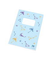 Školní sešit Hvězdná obloha Paper Factory - A5, linkovaný, 40 listů, modrý - LIMITOVANÁ EDICE