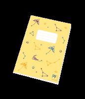 Školní sešit Hvězdná obloha Paper Factory - A5, linkovaný, 40 listů, žlutý - LIMITOVANÁ EDICE