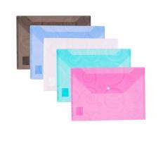 Spisové desky s drukem A4 Deli Ornament E39640 - plastové, mix barev