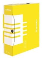 Archivační krabice na pořadač Donau A4/80 - 340x288x80 mm, bílá/žlutá