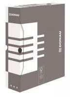 Archivační krabice na pořadač Donau A4/80 - 340x288x80 mm, bílá/šedá