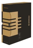 Archivační krabice na pořadač Donau A4/100 - 340x288x100 mm, hnědá/hnědá