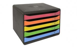 Zásuvkový box Exacompta Plus - 5 zásuvek, duhový