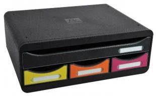 Zásuvkový box Exacompta - 4 zásuvky, duhový