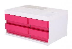 Zásuvkový box Deli Rio EZ25040 - 4 zásuvky, růžový