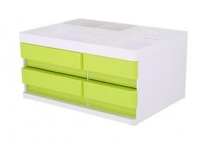 Zásuvkový box Deli Rio EZ25050 - 4 zásuvky, zelený
