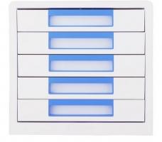 Zásuvkový box Deli Rio EZ01033 - 5 zásuvek, modrý