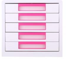 Zásuvkový box Deli Rio EZ01043 - 5 zásuvek, růžový