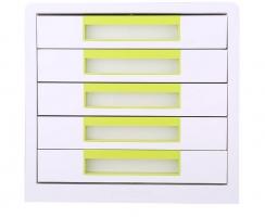 Zásuvkový box Deli Rio EZ01053 - 5 zásuvek, zelený