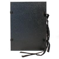 Spisové desky s tkanicí a štítkem A4 - jednostranně lakované, lepenka, černé