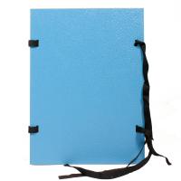 Spisové desky s tkanicí a štítkem A4 - jednostranně lakované, lepenka, modré