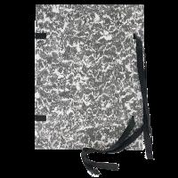 Spisové desky s tkanicí A4 Mráček - lepenka, černé