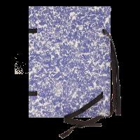 Spisové desky s tkanicí A4 Mráček - lepenka, modré