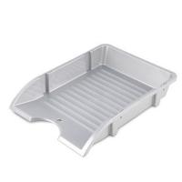 Odkládací zásuvka Donau Solid - plastová, stříbrná