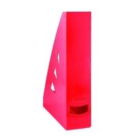 Stojan na katalogy Office Products - A4, plastový, 310x240x70 mm, červený