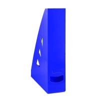 Stojan na katalogy Office Products - A4, plastový, 310x240x70 mm, modrý