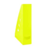 Stojan na katalogy Office Products - A4, plastový, 310x240x70 mm, žlutý
