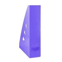 Stojan na katalogy Office Products - A4, plastový, 310x240x70 mm, fialový