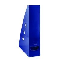 Stojan na katalogy Office Products - A4, plastový, 310x240x70 mm, tmavě modrý