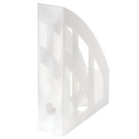 Stojan na katalogy Herlitz - plastový, transparentní bílý