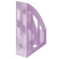 Stojan na katalogy Herlitz - plastový, transparentní fialový