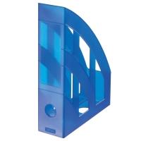 Stojan na katalogy Herlitz - plastový, transparentní modrý