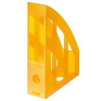 Stojan na katalogy Herlitz - plastový, transparentní oranžový