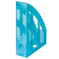 Stojan na katalogy Herlitz - plastový, transparentní tyrkysový