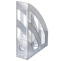 Stojan na katalogy Herlitz- plastový, transparentní šedý