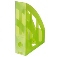 Stojan na katalogy Herlitz - plastový, transparentní zelený