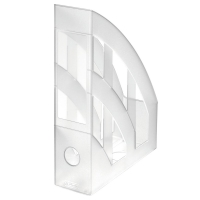 Stojan na katalogy Herlitz- plastový, transparentní matný