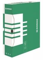 Archivační krabice na pořadač Donau A4/80 - 340x288x80 mm, bílá/zelená