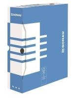 Archivační krabice na pořadač Donau A4/80 - 340x288x80 mm, bílá/modrá