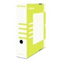 Archivační krabice na pořadač Donau A4/80 - s potiskem, 340x288x80 mm, lepenka, bílá/žlutá